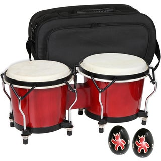 Endeavor Bongo Drums with Case and Shakers