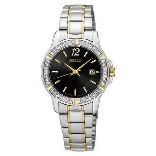 Seiko Women's SUR716 Stainless Steel and Crystal Watch