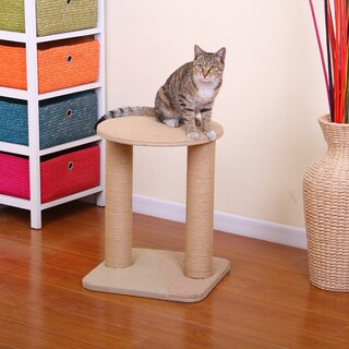 PetPals Throne Jute Double Post Scratcher Cat Tree