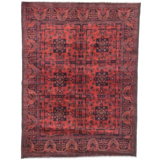 ecarpetgallery Hand-Knotted Finest Khal Mohammadi Red Wool Rug (5'0 x 6'5)