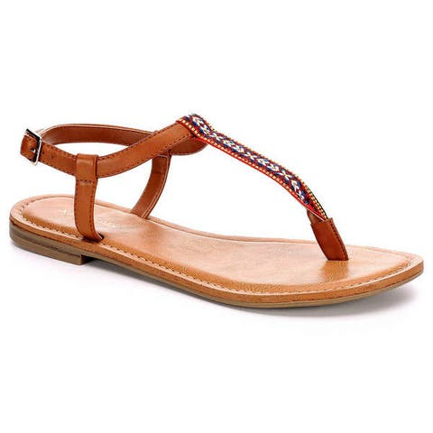 Xappeal Womens Coachella Flat Sandal Shoes by  Best Choices
