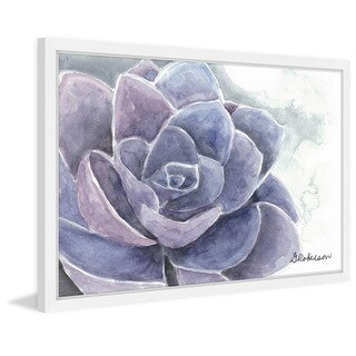 'Purple Succulent' Framed Painting Print