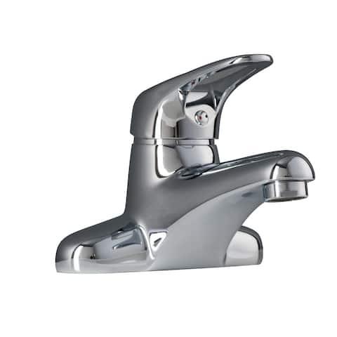 Maykke Zarif Single Handle Dual Hole Lavatory Sink Faucet - Silver