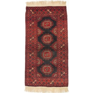 ecarpetgallery Hand-Knotted Finest Khal Mohammadi Black, Red Wool Rug (3'5 x 6'6)