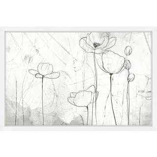 Poppy Sketches II' Framed Painting Print
