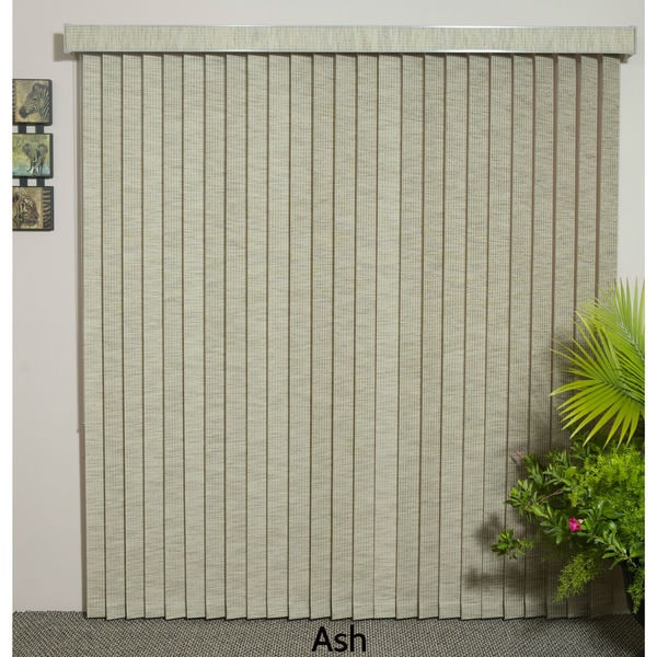 "Ash Fabric Vertical Blind, 48"" L x 36"" to 98"" W, CORDLESS"