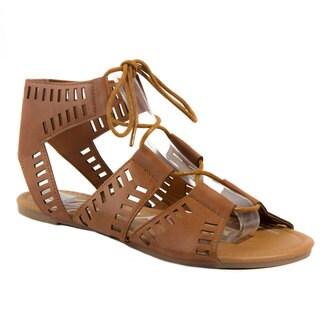 Blue Womens Caloya-H Lace Up Flat Fashion Sandals