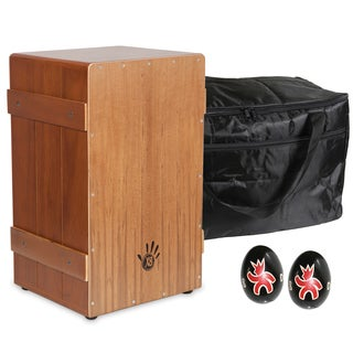 Flamenco Crate Cajon, Natural with Cajon Bag and Shakers