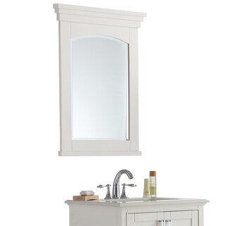 WYNDENHALL Atwood Soft White Bath Vanity Decor Mirror