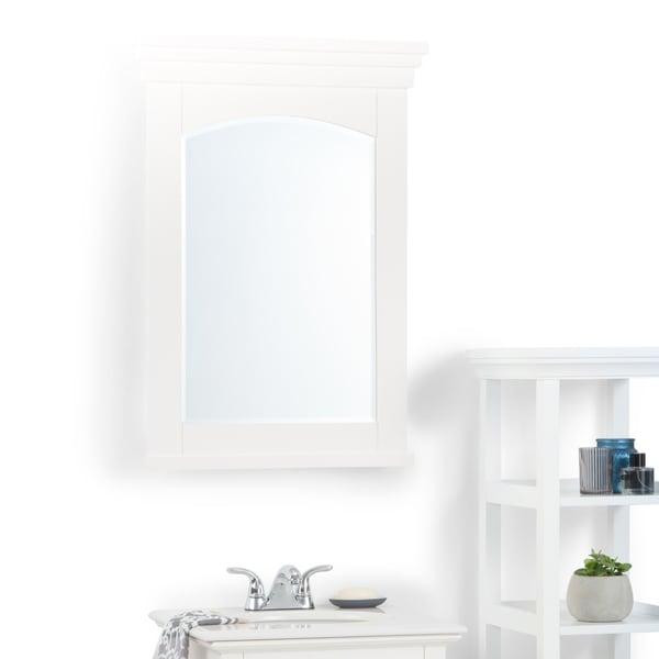 WYNDENHALL Atwood 24 inch x 34 inch Bath Vanity Décor Mirror in Off White