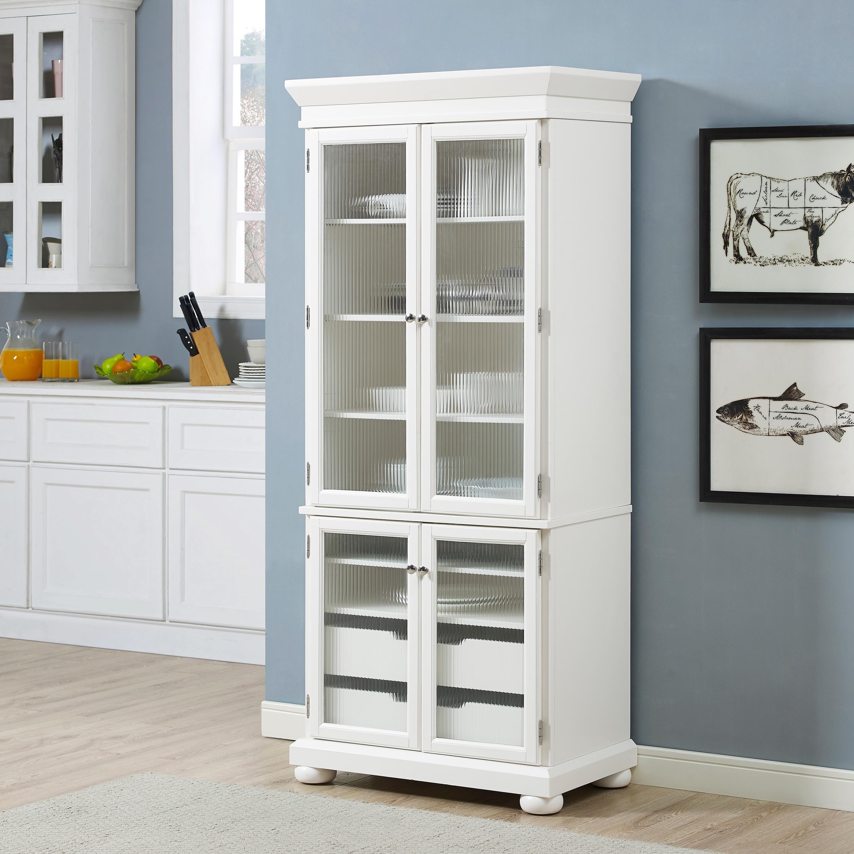Alexandria Kitchen Pantry in White Finish - N/A