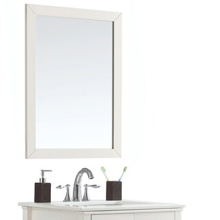 WYNDENHALL Mulberry 24 inch x 34 inch Bath Vanity Décor Mirror