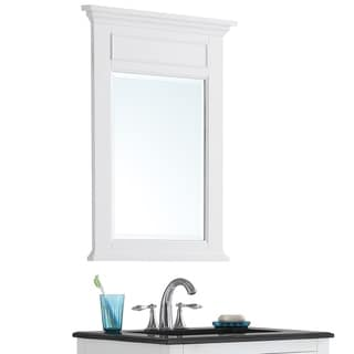 WYNDENHALL Jersey Pure White Bath Vanity Décor Mirror