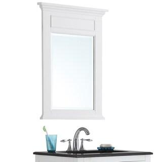 WYNDENHALL Jersey Pure White Bath Vanity Décor Mirror