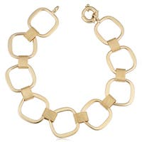 Fremada 14k Yellow Gold Square Link Bracelet (7.5 inches)