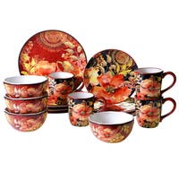 Certified International Poppies 16 -Piece Dinnerware Set