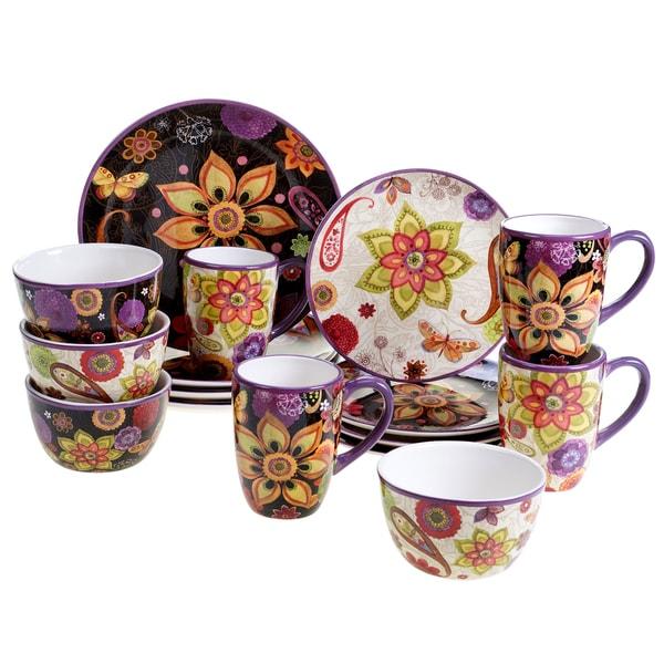 Certified International Floral 16 -Piece Dinnerware Set