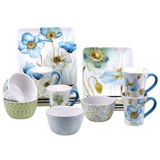 Certified International Poppy 16 -Piece Dinnerware Set