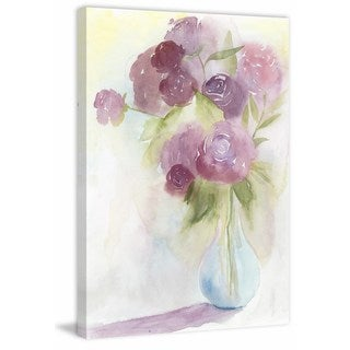 Glowing Bouquet I' Painting Print on Wrapped Canvas