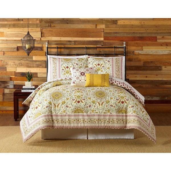 Indigo Bazaar Joanne 5-piece Cotton Comforter Set