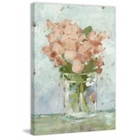 Impressionist Floral Study I' Painting Print on Wrapped Canvas - Pink