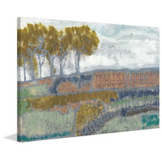 Patchwork Landscape I' Painting Print on Wrapped Canvas