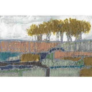 Patchwork Landscape II' Painting Print on Wrapped Canvas