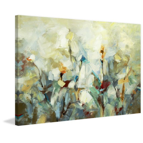 Ode to Monet 5' Painting Print on Wrapped Canvas - Green
