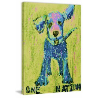 Blue and Yellow One Nation' Painting Print on Wrapped Canvas