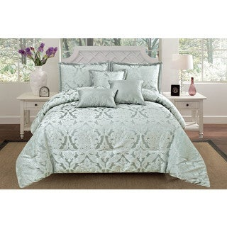 RT Designers Collection Oxford Oversized 6-Piece Jacquard Queen Size Comforter Set