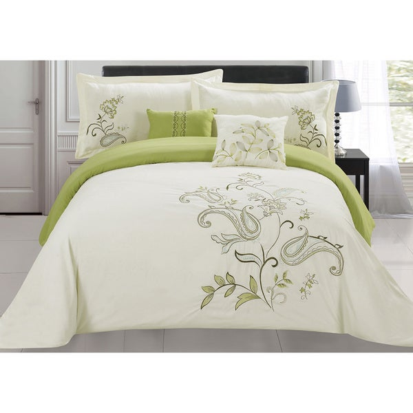 RT Designers Collection Jordana Oversized 5-Piece Embroidered King Size Comforter Set