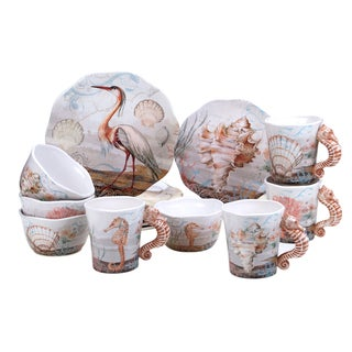 Certified International Coastal View 16 -Piece Dinnerware Set