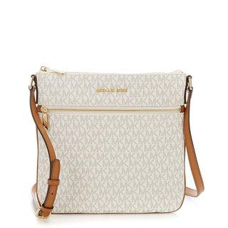 Michael Kors Bedford Signature Flat Vanilla Crossbody Bag