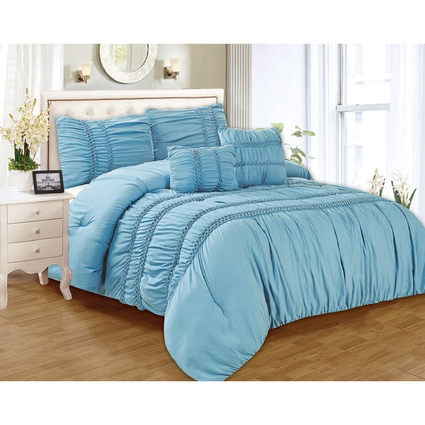 RT Designers Collection Waldorf Oversized 5-Piece Smocked Comforter