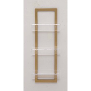 Elegantly Designed Metal Acrylic Wall Shelf