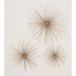 Amazing Antiqued Gold Wall Star, Set Of 3