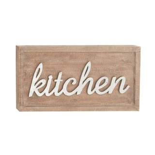 Kitchen Wood Metal Wall Sign Decor