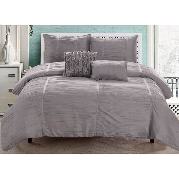 RT Designers Collection Kingsley 5-Piece Crushed Sateen Comforter Set