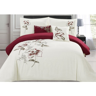 RT Designers Collection Sinclair Oversized/Overstuffed 5-Piece Embroidered Comforter Set