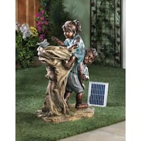 Precious Boy and Girl Garden Water Fountain