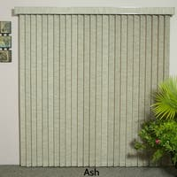 "Ash Fabric Vertical Blind, 84"" L x 36"" to 98"" W, CORDLESS"