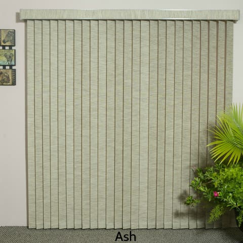 "Ash Fabric Vertical Blind, 72"" L x 36"" to 98"" W, CORDLESS"