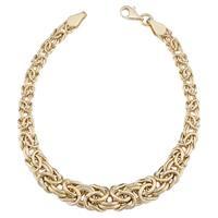 Fremada 14k Yellow Gold Graduated Byzantine Bracelet (7.5 inches)