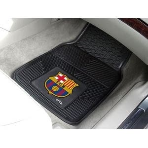 "FCBarcelona 2-pc Vinyl Car Mat Set 17""x27"""