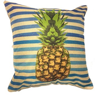 Lillowz Stripped Pineapple Throw Pillow 17-inch