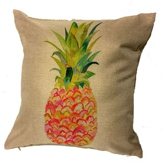 Lillowz Pink Pineapple Throw Pillow 17-inch