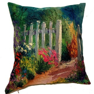 Lillowz Painted Fence Dream Throw Pillow 17-inch