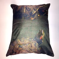 Lillowz Two Turtles Canvas Throw Pillow 17-inch