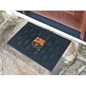 """FCBarcelona Medallion Door Mat 19.5""""x31.25"""""""