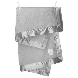Little Giraffe Silver Chenille Baby Blanket
